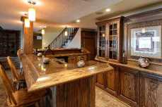 Granite Counter Top Oak Bar
